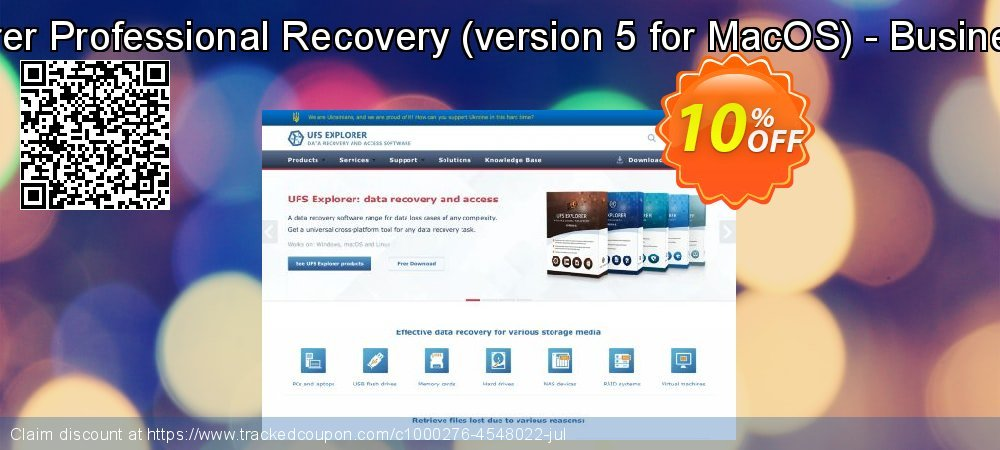 Get 10% OFF UFS Explorer Professional Recovery (version 5 for MacOS) - Business License promo