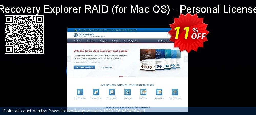 Recovery Explorer RAID - for Mac OS - Personal License coupon on Halloween offer