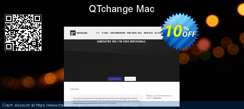 QTchange Mac coupon on Mothers Day sales