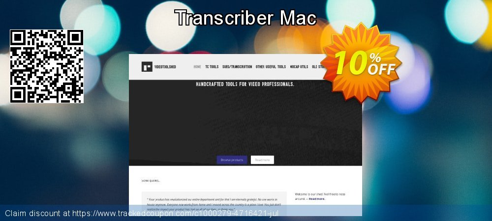 Transcriber Mac coupon on Mothers Day offer