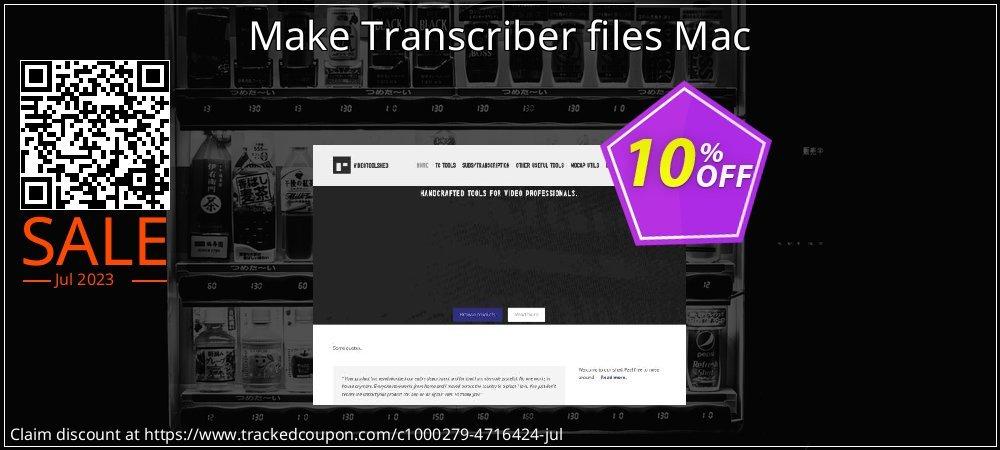 Get 10% OFF Make Transcriber files Mac discounts