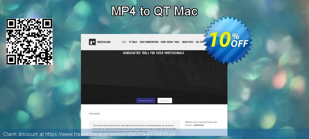 MP4 to QT Mac coupon on Mom Day promotions