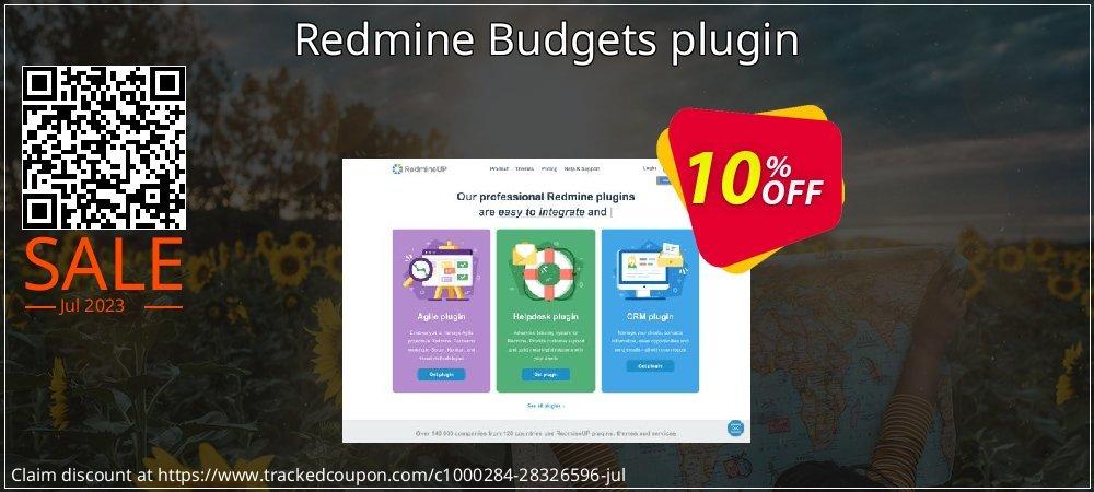 Get 10% OFF Redmine Budgets plugin offering sales