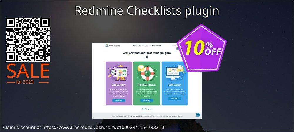Get 10% OFF Redmine Checklists plugin offering sales