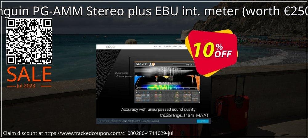 Get 10% OFF Pinguin PG-AMM Stereo plus EBU int. meter (worth €250,-) promo sales