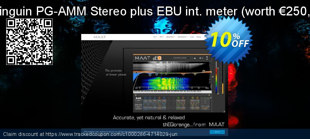 Get 10% OFF Pinguin PG-AMM Stereo plus EBU int. meter (worth €250,-) offering sales