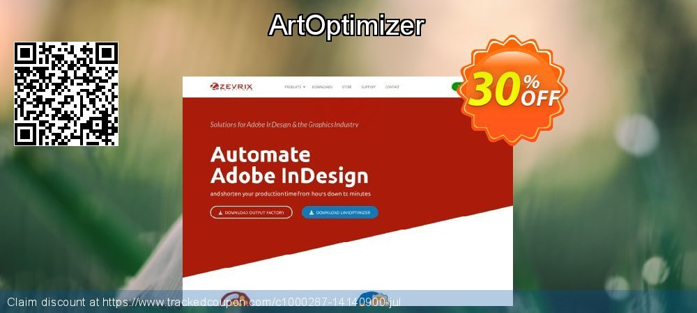 Get 30% OFF ArtOptimizer offering sales
