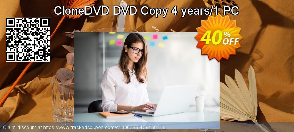 Get 30% OFF CloneDVD DVD Copy 4 years/1 PC offering sales