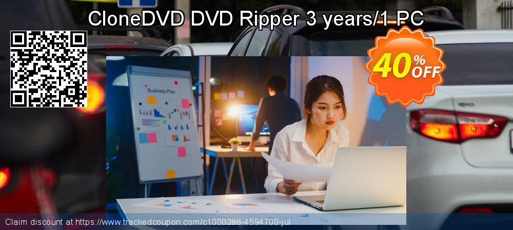 CloneDVD DVD Ripper 3 years/1 PC coupon on Thanksgiving discount