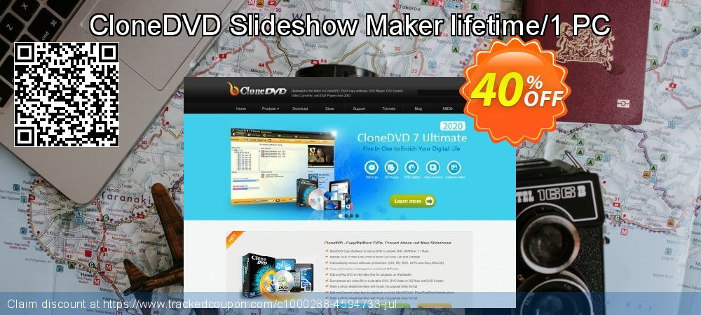CloneDVD Slideshow Maker lifetime/1 PC coupon on Black Friday sales