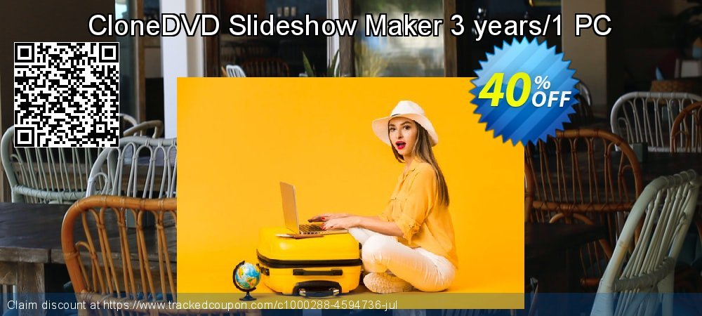 CloneDVD Slideshow Maker 3 years/1 PC coupon on Thanksgiving discount