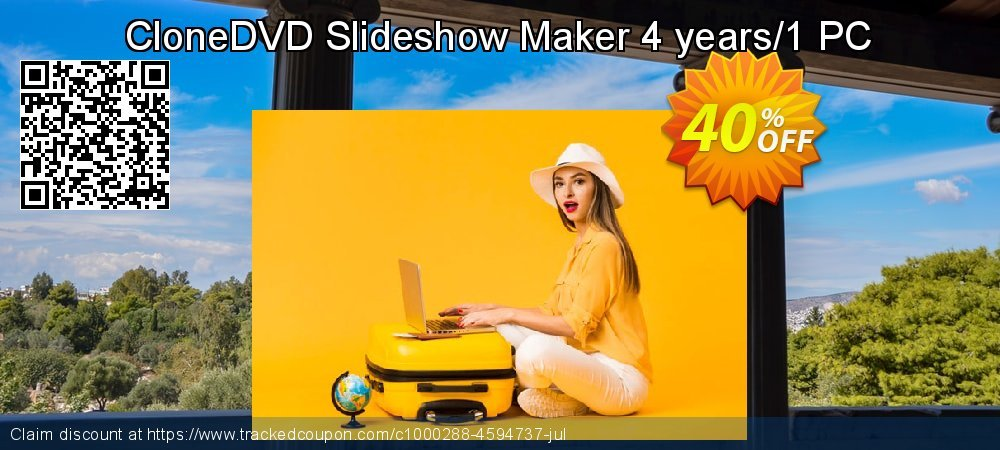 CloneDVD Slideshow Maker 4 years/1 PC coupon on Black Friday offering discount
