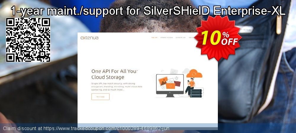 1-year maint./support for SilverSHielD Enterprise-XL coupon on Valentine's Day offer