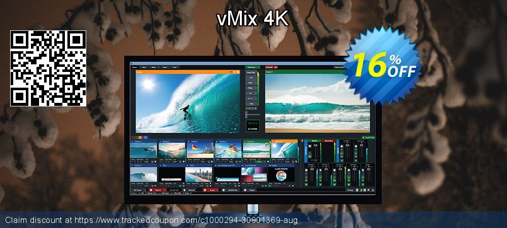 vMix 4K coupon on Back to School shopping sales