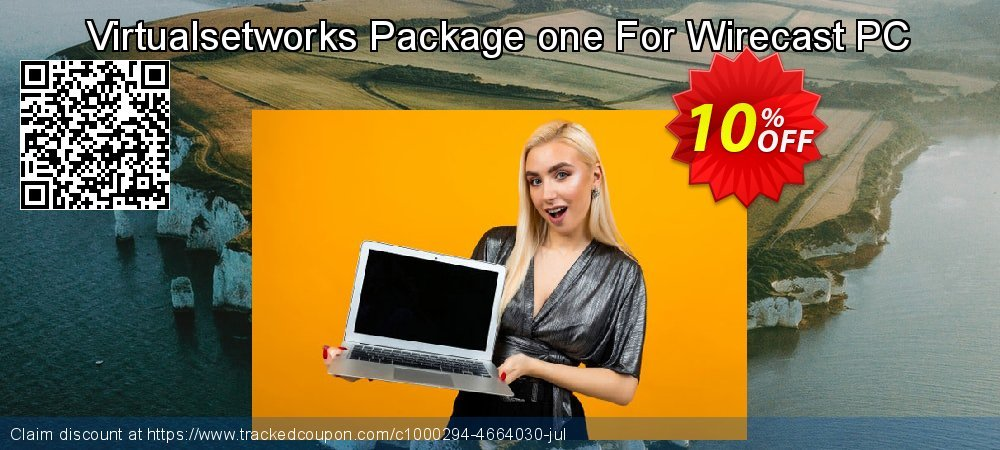 Get 10% OFF Virtualsetworks Package one For Wirecast PC offering discount