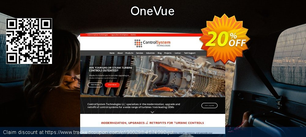 OneVue coupon on Halloween offering discount