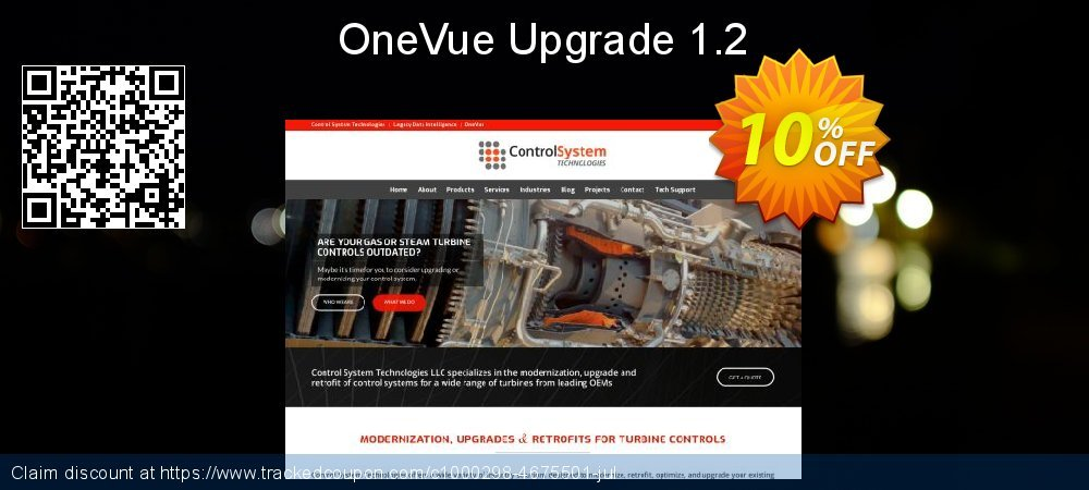 OneVue Upgrade 1.2 coupon on Halloween offer