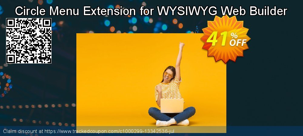Get 25% OFF Circle Menu Extension for WYSIWYG Web Builder promo sales