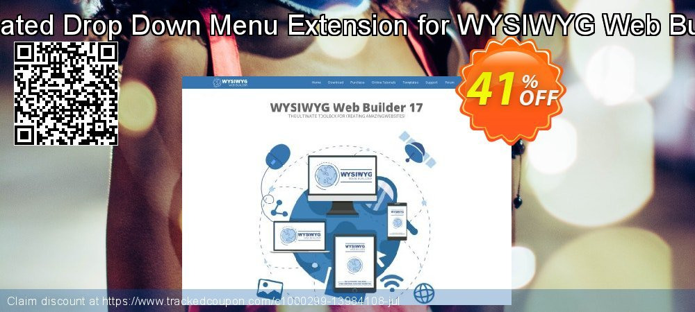 Get 25% OFF Animated Drop Down Menu Extension for WYSIWYG Web Builder offer