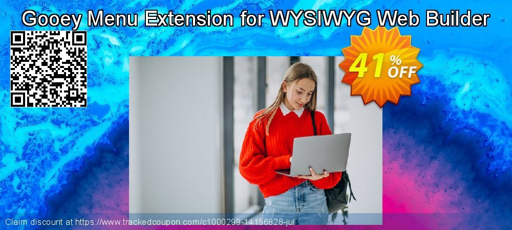 Get 33% OFF Gooey Menu Extension for WYSIWYG Web Builder promotions