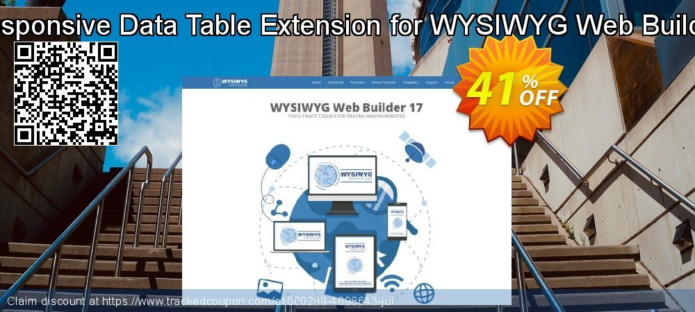 Get 10% OFF Responsive Data Table Extension for WYSIWYG Web Builder offer