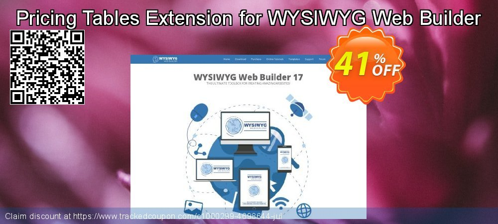 Get 33% OFF Pricing Tables Extension for WYSIWYG Web Builder offer