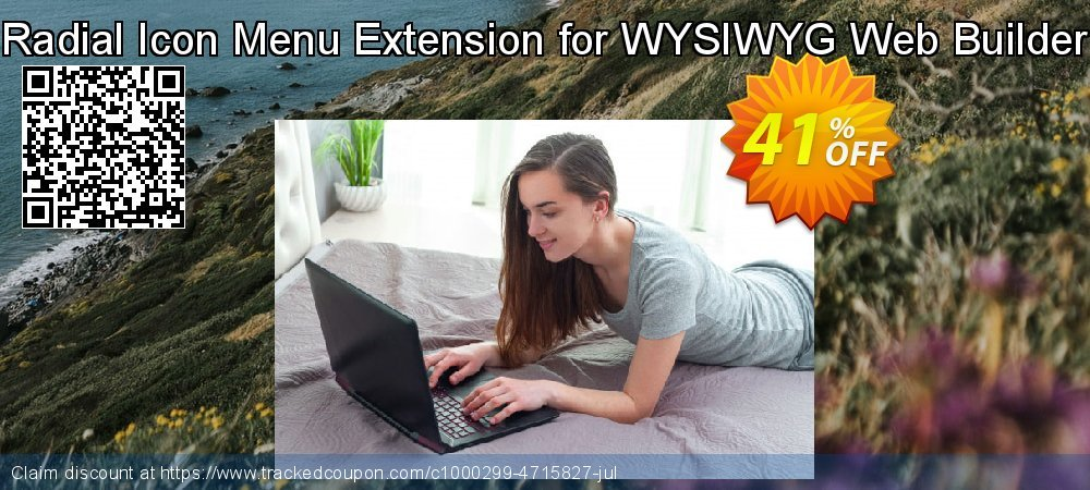 Get 25% OFF Radial Icon Menu Extension for WYSIWYG Web Builder promo
