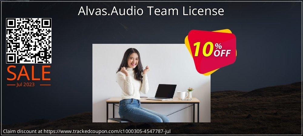 Alvas.Audio Team License coupon on Lunar New Year offering sales