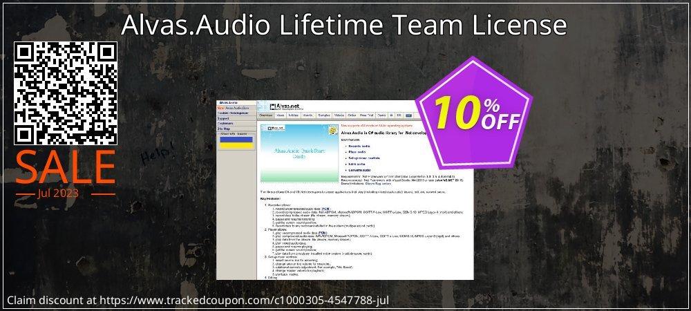 Alvas.Audio Lifetime Team License coupon on New Year super sale