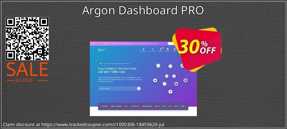 Get 30% OFF Argon Dashboard PRO offering deals