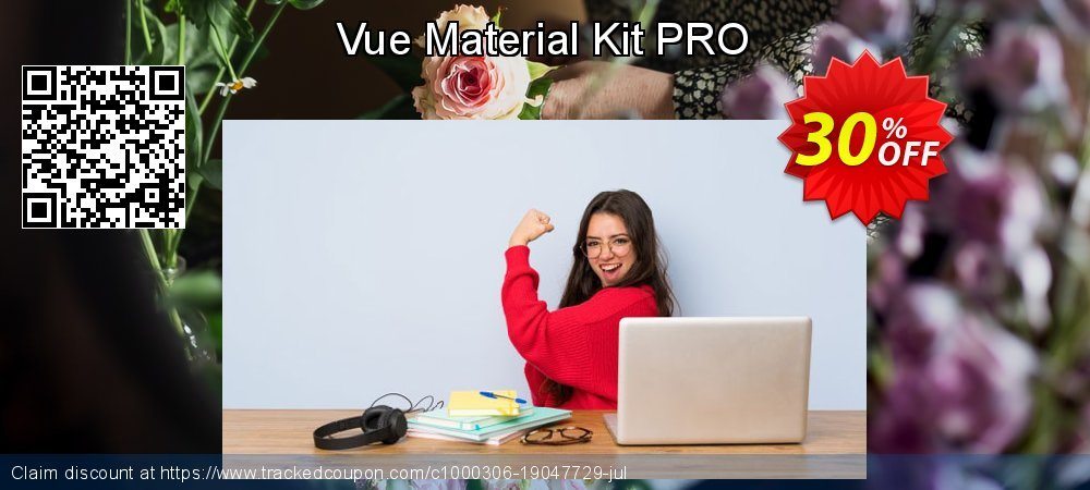 Vue Material Kit PRO coupon on Black Friday offering discount