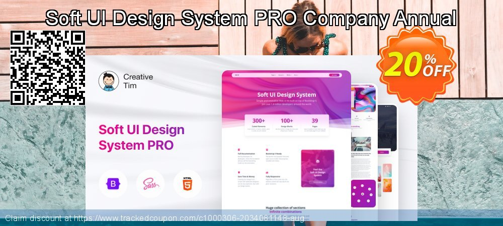Soft UI Design System PRO Company Annual coupon on Natl. Doctors' Day super sale