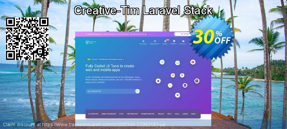 Get 30% OFF Creative-Tim Laravel Stack offering discount