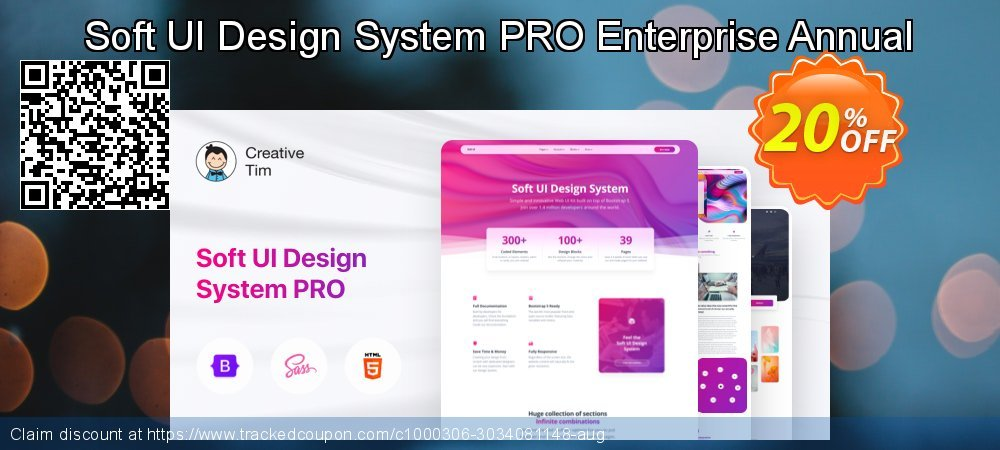 Soft UI Design System PRO Enterprise Annual coupon on Valentines Day super sale