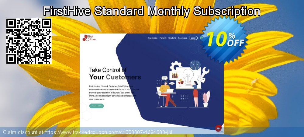 FirstHive Standard Monthly Subscription coupon on Valentine Week offering discount