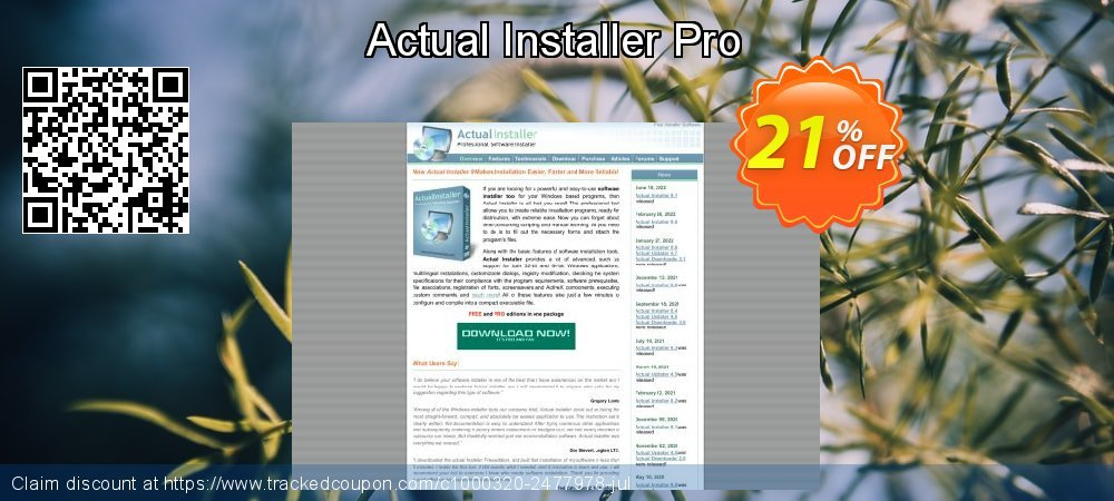 Actual Installer Pro coupon on Valentines Day offering sales