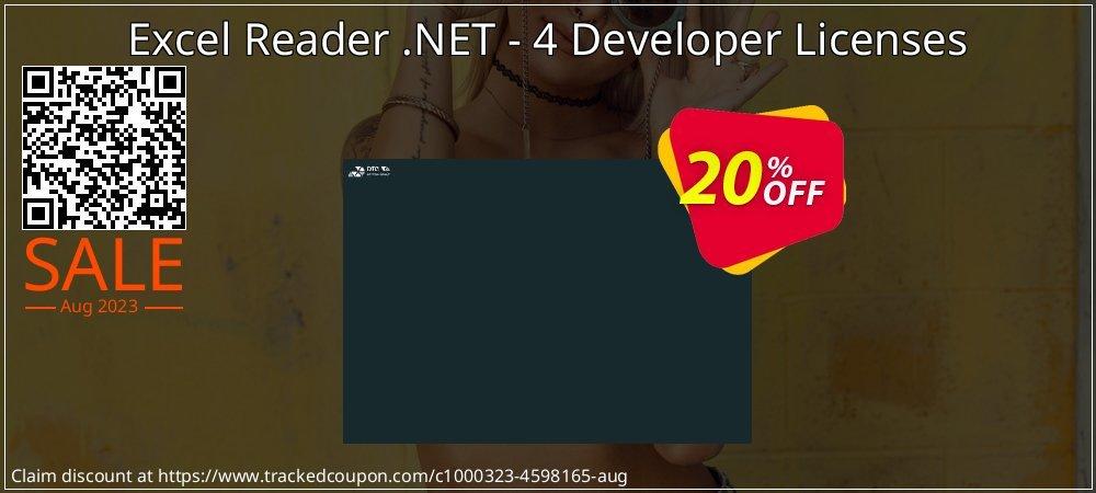 Excel Reader .NET - 4 Developer Licenses coupon on Valentine Week offer