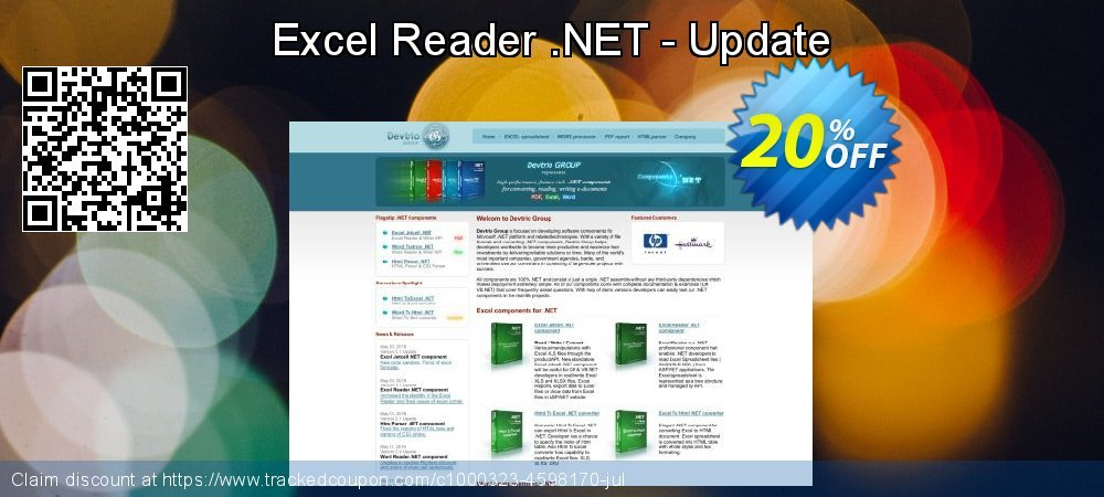 Excel Reader .NET - Update coupon on July 4th discount