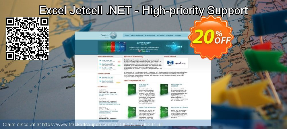 Excel Jetcell .NET - High-priority Support coupon on End of Year discount