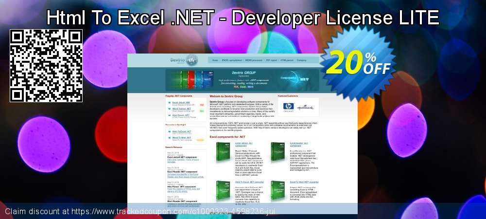 Html To Excel .NET - Developer License LITE coupon on 4th of July super sale