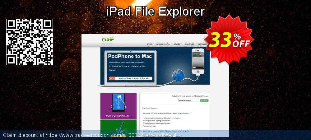 Get 30% OFF iPad File Explorer promo