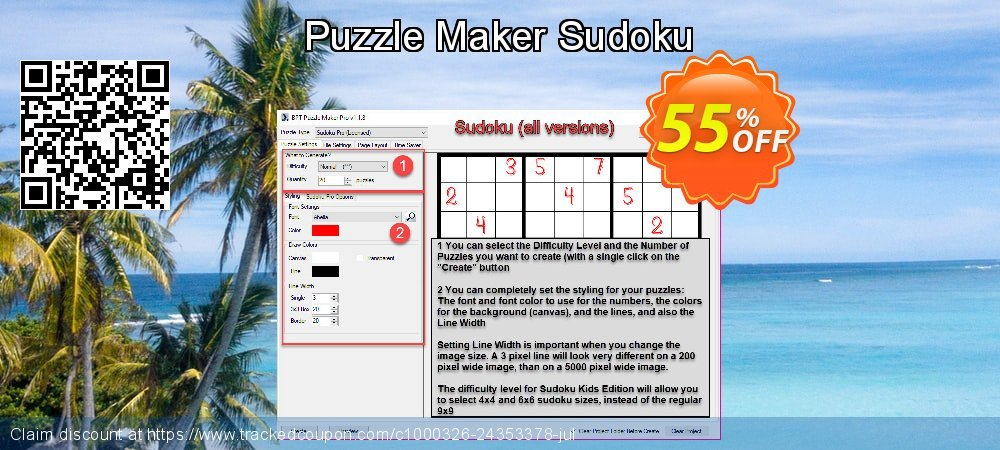 Puzzle Maker Sudoku coupon on Back to School coupons promotions