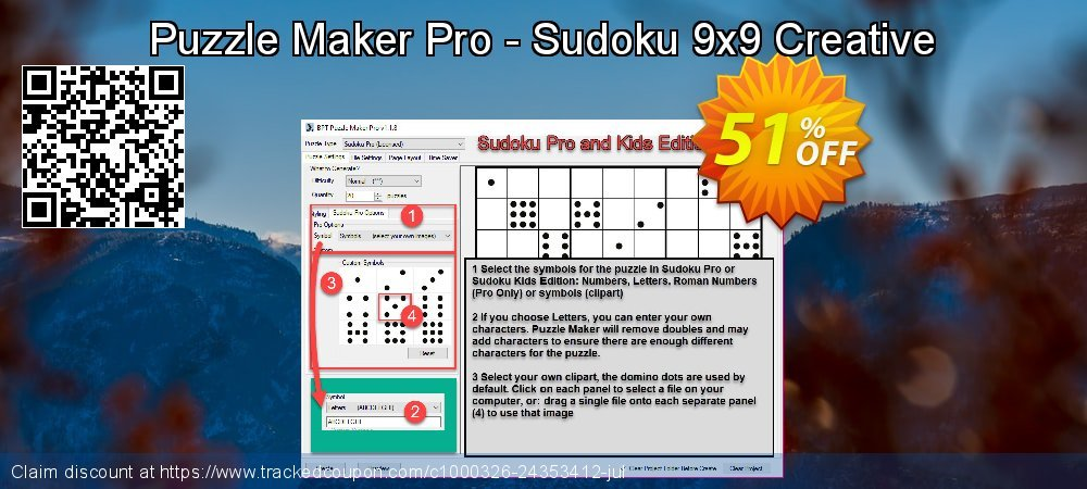 Puzzle Maker Pro - Sudoku 9x9 Creative coupon on Back to School coupons super sale