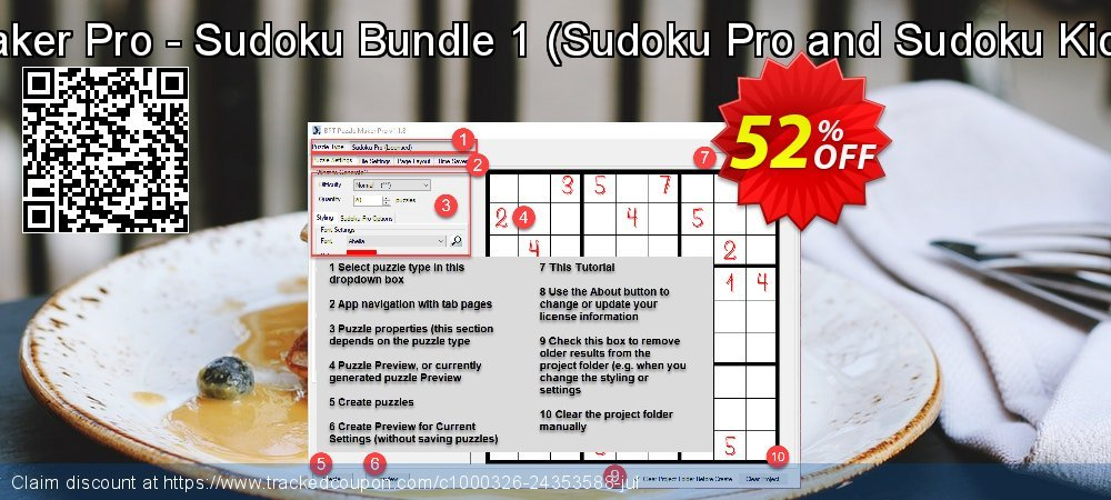 Puzzle Maker Pro - Sudoku Bundle 1 - Sudoku Pro and Sudoku Kids Edition  coupon on University Student offer offer