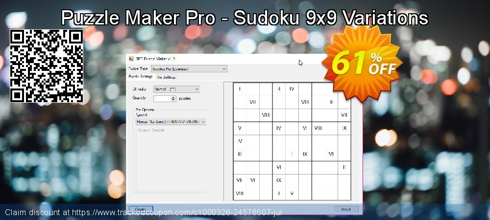 Puzzle Maker Pro Sudoku 9x9 Variations coupon on Halloween offer