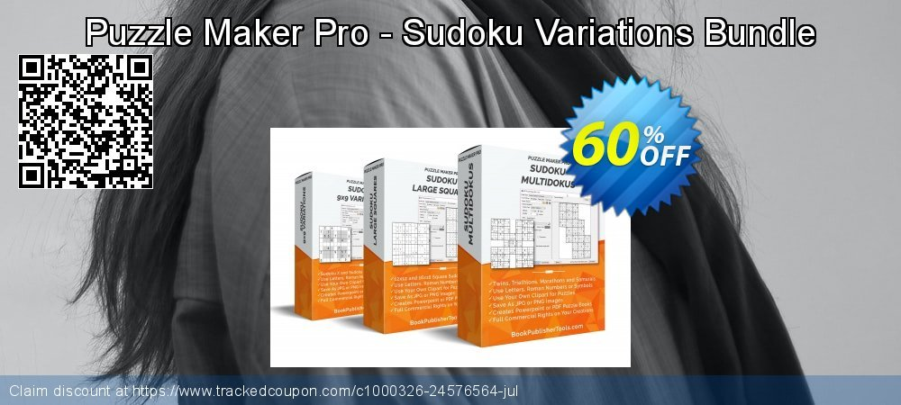 Puzzle Maker Pro Sudoku Variations Bundle coupon on Halloween offering sales