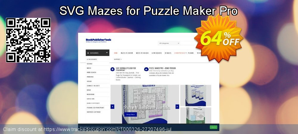 SVG Mazes for Puzzle Maker Pro coupon on Read Across America Day offering sales