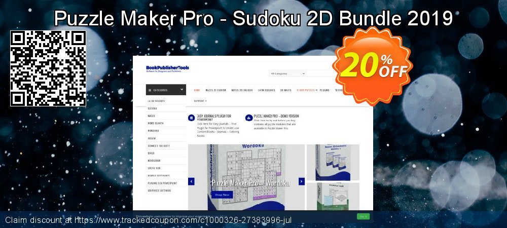 Puzzle Maker Pro - Sudoku 2D Bundle 2019 coupon on  Lover's Day offering sales