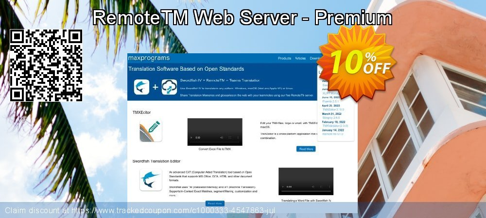 Get 10% OFF RemoteTM Web Server - Premium offer
