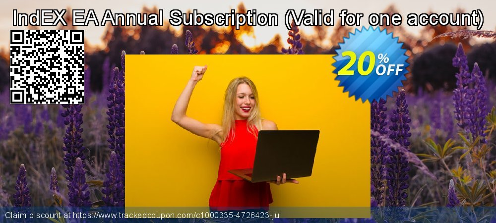 Get 20% OFF IndEX EA Annual Subscription (Valid for one account) promo